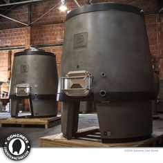 American-made Concrete Wine Tanks by Sonoma Cast Stone Brewery Decor, California Wine, Cast Stone, Adjustable Ring, Wineries, Wine Country, American Made, Concrete, It Cast