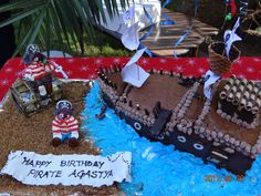 Cake at a Pirate Party #pirateparty #cake
