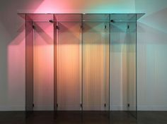George Henry Longly Untitled, candy stripe mirror, 3 x theatre lights… All Of The Lights, Mirror With Lights, Mirror 3, Lamp Design, Design Art, Lights Artist, Light Works, Light And Space, Color Of Life