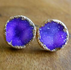 so pretty- earrings like a little galaxy's
