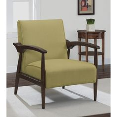 Gracie Retro Lemon Grass Arm Chair | Overstock™ Shopping - Great Deals on Living Room Chairs