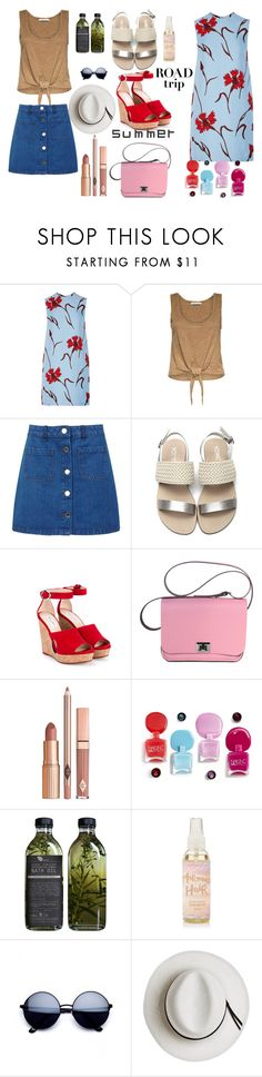 """""""untitled 164"""" by deboraaguirregoncalves ❤ liked on Polyvore featuring Miu Miu, Alice + Olivia, Miss Selfridge, Jimmy Choo, Dolce Vita, AMBRE, Calypso Private Label and roadtrip"""