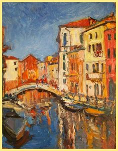 Dream of  Venice. oil painting