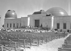 Griffith Observatory opening ceremony for 500 invited guests, Mount Hollywood, May 1935 California Outline, California Surf, Vintage California, Southern California, Griffith Observatory, San Luis Obispo County, Griffith Park, California History, City Of Angels