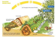 It's a technique called Hugelkultur .    It's from a brilliant German permaculture (a way of designing living ecosystems to eliminate the need for external inputs) engineer called Sepp Holzer, although he started doing this well before the permaculture brand emerged.