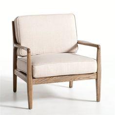 Fauteuil Dilma AM.PM : prix, avis & notation, livraison. La structure légère et l'assise profonde de ce fauteuil lui donnent un style naturel, confortable et facile à vivre. REVÊTEMENT :- 100% lin. CONFORT :- Garnissage mousse polyuréthane et ouate de polyester. - Système d'accroche pour le coussin de dossier. STRUCTURE :- Structure orme massif.- Assise placage chêne. DIMENSIONS :- L.68,5 x P.68,8 x H.68,5 cm. - Haut.assise 40 cm.