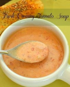 This tomato soup is exactly like the tomato soup I'm in love with from one of my favorite hometown restraunts!