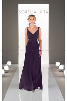 Sorella Vita V-Neck Bridesmaid Dress Style 8614