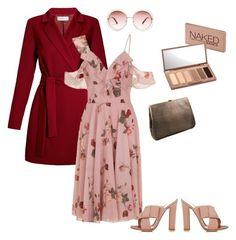 """""""Chi-Chi dress with red coat"""" by daniela-gazova on Polyvore featuring Undress, Chi Chi, Gianvito Rossi, Chloé and Urban Decay"""