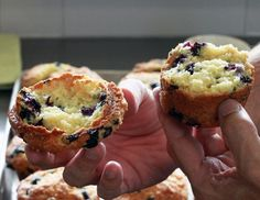 I try to make a habit of going back from time-to-time to retry myrecipes from the past, and recently I decided to pit my two blueberry muffin recipes against each other. The recipe from my second boo