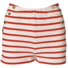 By Malene Birger Nancee riviera striped shorts ($85) ❤ liked on Polyvore