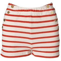 By Malene Birger Nancee riviera striped shorts ($85) ❤ liked on Polyvore