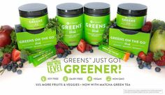 Our Greens just got GREENER!!! Allergen FREE More fruit & veggies And now with Matcha Green Tea!!! #greens #itworks 864-350-4928 www.lisafisherwrap.itworks.com