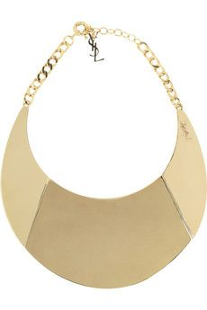 Yves Saint Laurent Purefly Gold-Tone Necklace - YSL, you've outdone yourself!