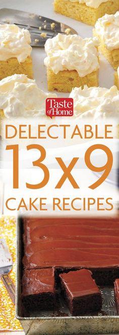 13x9 Cake Recipes