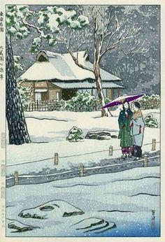 "Shinseitei Arbor in Rikugien Garden, by Kasamatsu Shiro, 1953 (Series ""Famous Gardens of Tokyo"")"
