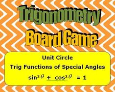 by Hilda Ratliff Math Board Games, Math Boards, Teaching Schools, Teaching Math, Math Tools, Precalculus, Secondary Math, Trigonometry, Math Classroom