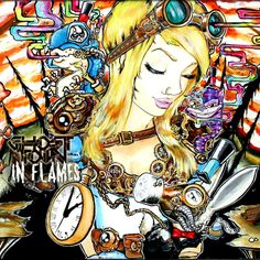 In flames by ghost town art by Imamachinist aka Alister Dippner