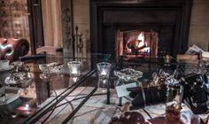 fire place - cigar lounge of Schlosshotel im Grunewald www.schlosshotelberlin.com
