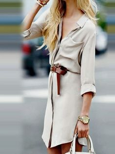 Beige Long Sleeve Button Up Longline Shirt