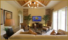 pretty wall, ceiling, and furniture layout