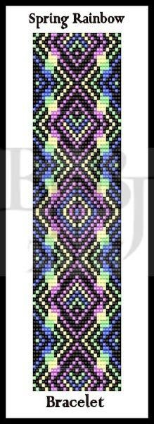 Bead Pattern - Spring Rainbow Bracelet - Loom Stitch – Bead Patterns by Jaycee