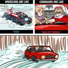 Hetalia ~ America, America, Canada and Canada 2p America, America And Canada, Hetalia Funny, Hetalia Fanart, Hetalia Anime, Zootopia, 2p Canada, Latin Hetalia, Funny Memes