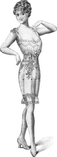 Les Dessous Elegants Septembre 1917 page 128 - vintage corset