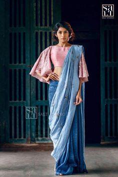 Stylish Blouse Inspirations From Salt Studio Blouse Back Neck Designs, Fancy Blouse Designs, Sari Blouse Designs, Blouse Patterns, Dress Designs, Churidar, Anarkali, Lehenga, Kurti