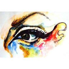 Watercolors' my shop- www.etsy.com/shop/shivamsehgalartwork  #Creative #Art in #painting @Touchtalent http://bit.ly/Touchtalent-p #ink #eyes #grunge #art #arte #artwork #human #colorful #people #shivam #sehgal #artwork