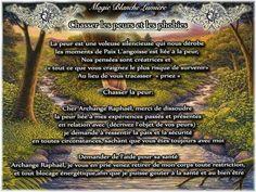 Prières Chasser les peurs et les phobies  Page Facebook : Spiritualité, Magie Blanche Lumière