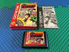 WORKS PERFECT SEGA GENESIS SYSTEM COMIX ZONE GAME CART BOX MANUAL COMPLETE NO CD