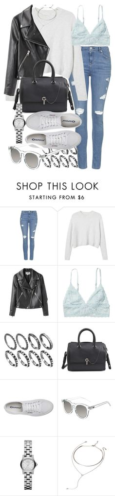 """""""Untitled #17154"""" by florencia95 ❤ liked on Polyvore featuring Topshop, Monki, Acne Studios, Carven, Superga, Quay and Forever 21"""