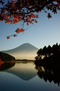 lake reflection of Mt. Fuji in Japan Places Around The World, The Places Youll Go, Places To Go, Around The Worlds, Beautiful World, Beautiful Places, Peaceful Places, Monte Fuji, Japan Travel