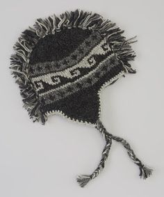 Love this Windhorse Charcoal Mohawk Wool Earflap Beanie by Windhorse on #zulily! #zulilyfinds