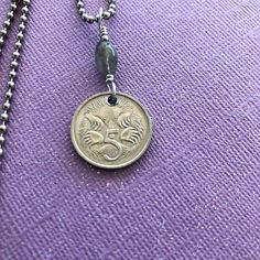 Australian Coin Australia Coin Necklace Travel Jewelry