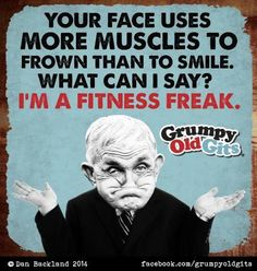 I'm a fitness freak! Funny Cartoons, Funny Comics, Old Age Humor, I Hate Everyone, Cartoon Posters, Cartoon Characters, Aunty Acid, In Case Of Emergency, Funny Cute
