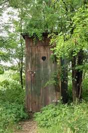 Rural Old Outhouse In Summer - Vintage Toilet. Royalty Free Stock ...