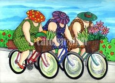 The Girls on the Road - Carolyn Stich Studio