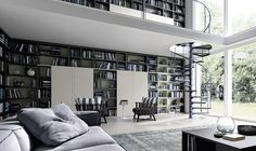 Modular wall unit system that can be adapted to suit your living room style Contemporary Living Room Wall Units For Those Who Love Their Books!