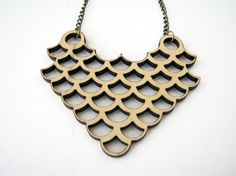 Overlap circles wood necklace by indomina on Etsy, $17.00  Laser cut wood necklace