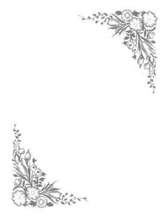 Printable black and white flower border use the border in microsoft flowered corners mightylinksfo