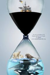 It's not a matter of IF there will be an oil spill, it's WHEN. - It's not a matter of IF there will be an oil spill, it's WHEN. Save Planet Earth, Save Our Earth, Save The Planet, Save The Arctic, Save Environment, Green Environment, Ocean Pollution, Oil Spill, Design Poster