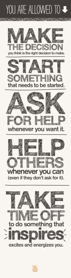 Make, ask, help, take... #Inspire #motivate #emmamildon
