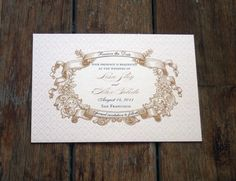 Vintage Save the Date French Baroque Custom by Bdesignsinvitations, $2.28