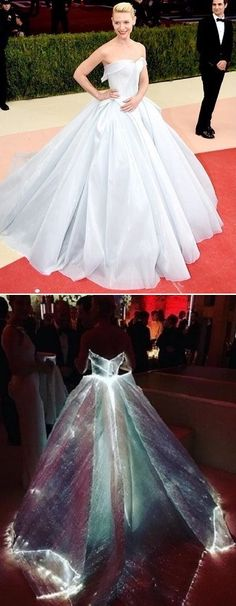 Claire Danes in Zac Posen #Cinderella gown at the Met Gala 2016 #redcarpet #style #fashion