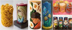 Aprende la técnica para hacer tallado de velas decorativas ~ Manoslindas.com Candels, Pillar Candles, Diy Crafts, Canning, Home Decor, Candle Making, Handmade Candles, Filing Cabinets, Beautiful Candles