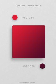 16 Beautiful Color Gradient Inspiration Part 2 Ui Color, Gradient Color, Graphic Design Projects, Graphic Design Inspiration, Flat Color Palette, Color Palettes, Restaurant Logo, Poster Art, Color Psychology