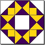 """Crowning Glory quilt block 12"""" http://www.quilterscache.com/C/CrowningGloryBlock.htm"""
