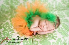 because presley kate is gonna be a pumpkin baby! Sweet Pumpkin tutu. preemie or newborn tutu set. Comes with matching poof headband. Made halfway around to make laying more comfortable. via Etsy